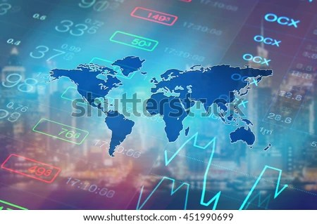 Business Inspirational Quotes Wallpaper Download Economy Background Abstract Stock Market Graph Stock Photo
