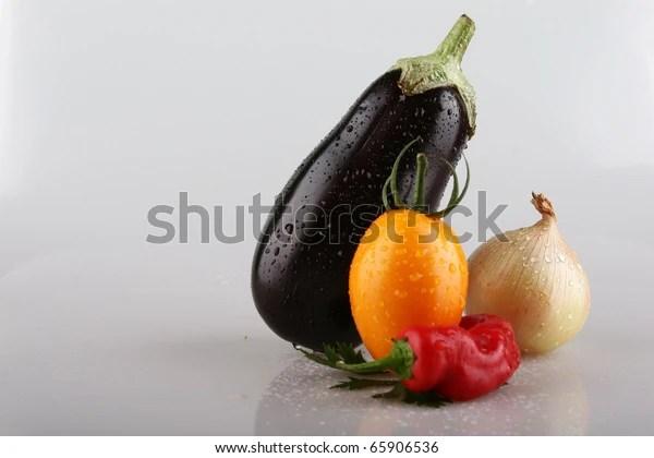 Eggplant Golden Onion Yellow Tomato Chilli Stock Photo (Edit Now) 65906536