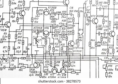 Electric Circuit Diagram Images, Stock Photos & Vectors