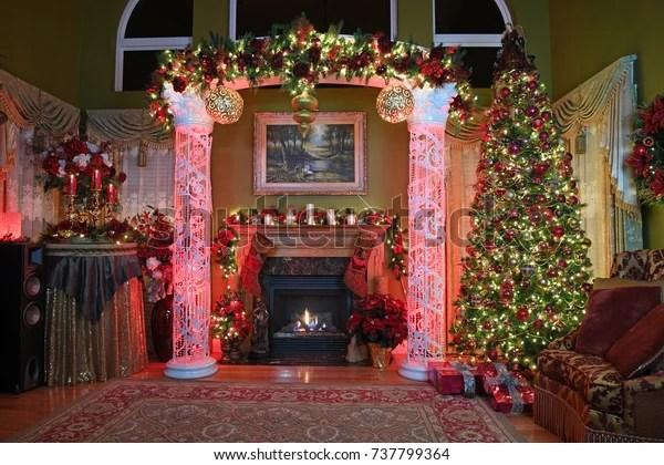 Elegant Home Christmas Decorations Tree Stock Photo Edit Now 737799364