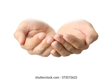 cupped hands images stock