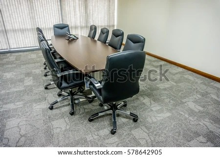 office conference room chairs wedding chair covers in bulk empty meeting stock photo edit now with and table