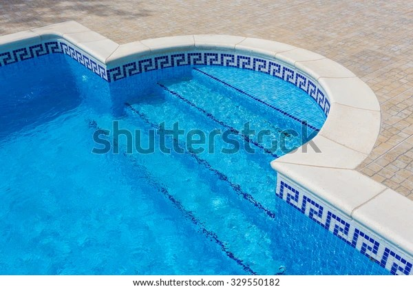 https www shutterstock com image photo entrance pool marble tiles clear water 329550182