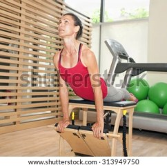 Gym Chest Chair Barton Accessories Exercise On Pilates Stock Photo Edit Now 313949750 At