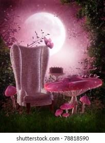 alice in wonderland chair ballard designs dining slipcovers garden tea party images, stock photos & vectors | shutterstock