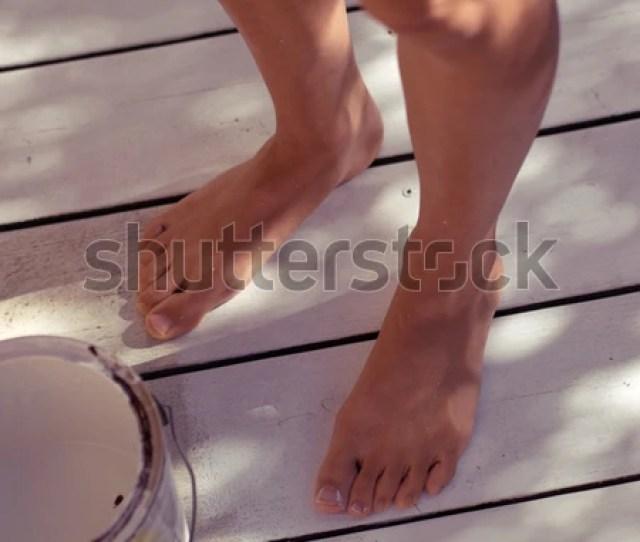 Feet Legs Unrecognizable Beautiful Sexy Asian Stock Photo Edit