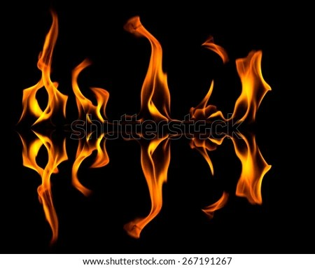 fire abstract flames shapes