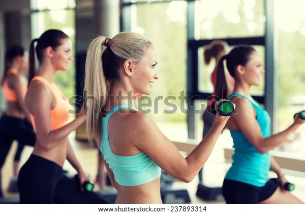 Fitness Sport Training Gym Lifestyle Concept People Stock Image 237893314
