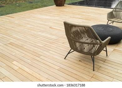 https www shutterstock com image photo flooring teak wood outdoor decking oil 1836317188