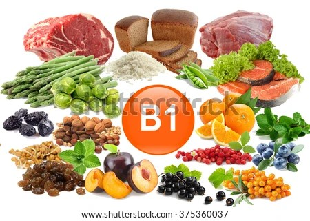 Food Sources Vitamin B 1 Isolated Stock Photo (Edit Now) 375360037 - Shutterstock