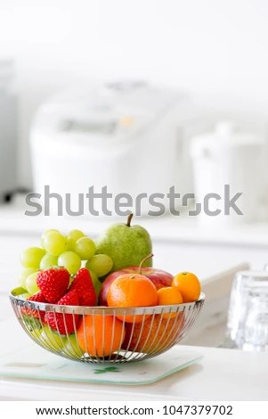 kitchen fruit basket knotty pine cabinets for sale bright stock photo edit now 1047379702 in