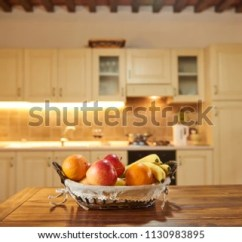 Fruit Basket For Kitchen Faucet Sprayer Interior Desk Space Stock Photo Edit Now In With