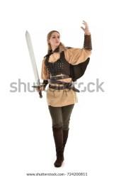 Full Length Portrait Fantasy Medieval Warrior Stock Photo Edit Now 724200811
