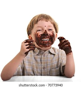 Image result for chocolate on face smile