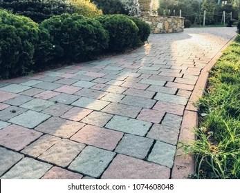 paver brick images stock
