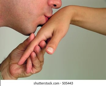 hand kissing images stock