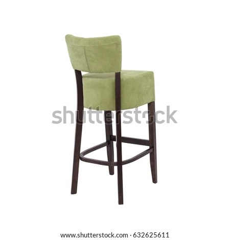 high chair wooden legs covers for sale in nj green stock photo edit now 632625611 with isolated on white background back view