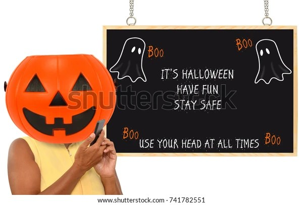 Julia layton as the weather turns cool, home decor turns downright spooky. Halloween Have Fun Stay Safe Use Stock Photo Edit Now 741782551
