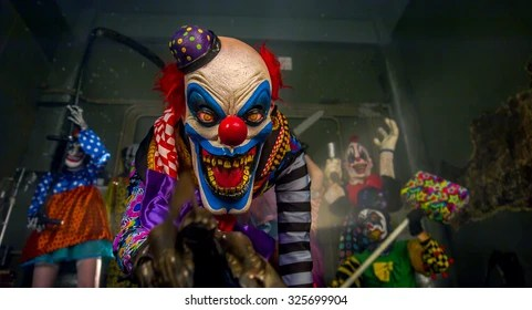 scary clown images stock