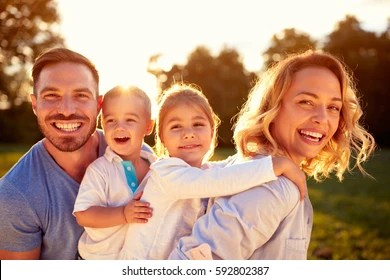 smiling family images stock