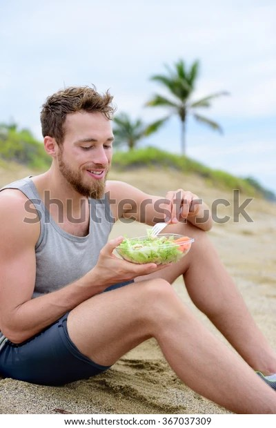 Guy Eating Sand : eating, Healthy, Vegan, Stock, Photo, (Edit, 367037309