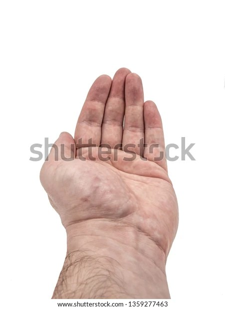 human hand posing straight