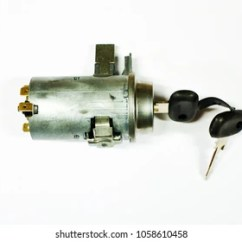 Ignition Switch Deutsch Homeline Breaker Panel Wiring Diagram Images Stock Photos Vectors Shutterstock Lock With Car Key Isolated On White Background Clipping Path
