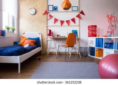 modern child bedroom stock