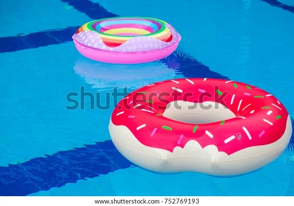 inflated donuts balloon swimming