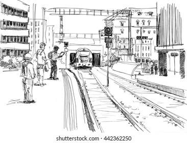 White Train Station Images, Stock Photos & Vectors