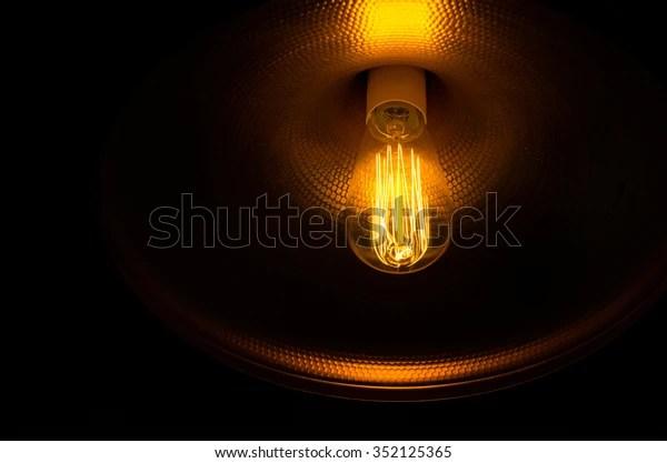 interesting light bulb coiled