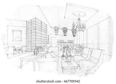 Interior Design Sketch Images, Stock Photos & Vectors