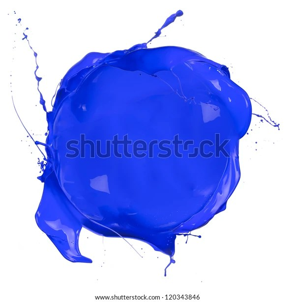 Isolated Shot Blue Paint Blob On Stock Photo (Edit Now) 120343846