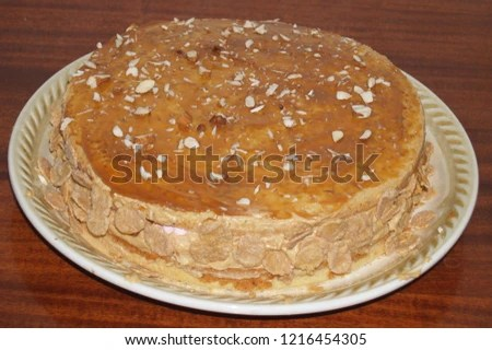 Isolated Whole Brown Home Baked Cake Stock Photo Edit Now