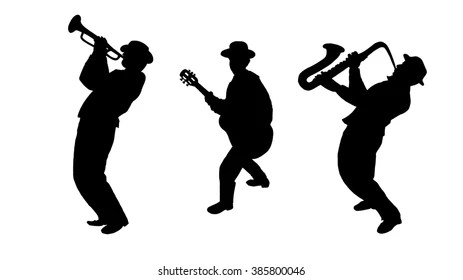 Musician Silhouette Images, Stock Photos & Vectors