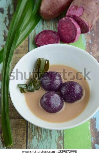 Biji Salak Ubi Ungu : salak, Kolak, Salak, Purple, Stock, Photo, (Edit, 1239872998