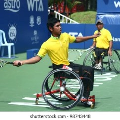 Wheelchair Olympics Lowes Folding Patio Chairs Images Stock Photos Vectors Shutterstock Kuala Lumpur March 4 Malaysia Olympic Players Abu Samah Borhan Front
