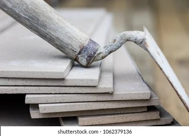 https www shutterstock com image photo laying cutting tiles tools building materials 1062379136