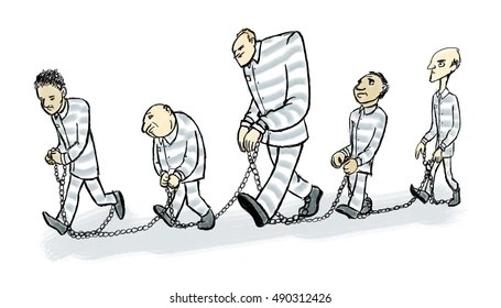 A Prisoner In Chains Images, Stock Photos & Vectors