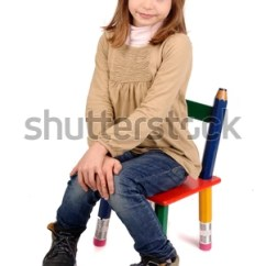 Little Girl Chairs Best Reclining Camping Sitting Chair Stock Photo Edit Now 122948344 In A