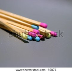 Kitchen Matches Grey Rugs Long Wooden Colorful Match Stock Photo Edit Now With Heads On A Gray Background