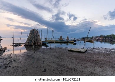 https www shutterstock com image photo longtailed boat laid on rack while 1816672121