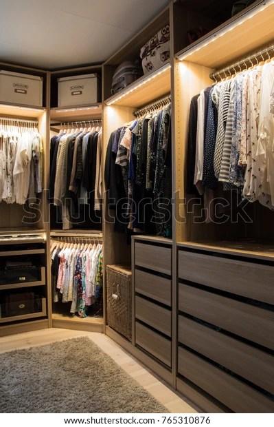https www shutterstock com image photo luxurious walk closet lighting jewelry display 765310876