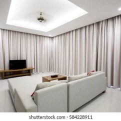 Modern Wooden Ceiling Design For Living Room 2016 Best Color To Paint Walls Images Stock Photos Vectors Shutterstock Luxury Comfortable Sofa Furniture Long Blinds And Fan On Top