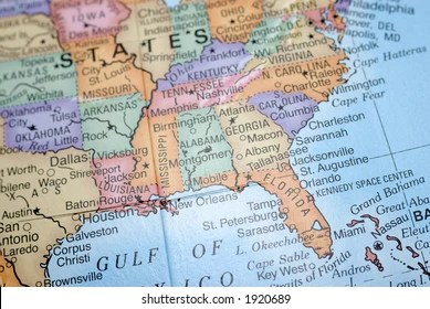 25/02/2021· the map above shows the location of the united states within north america, with mexico to the south and canada to the north. South East United States Map Images Stock Photos Vectors Shutterstock