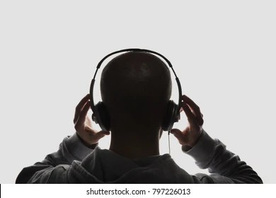 guy headphone images stock