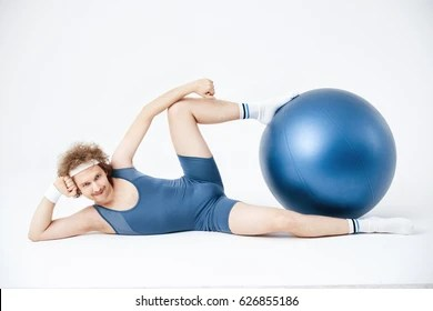 funny, man with gym ball, inspiring spiritual quotes