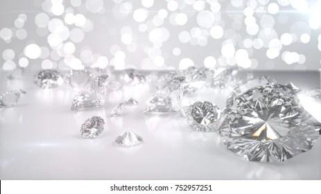 loose diamond images stock