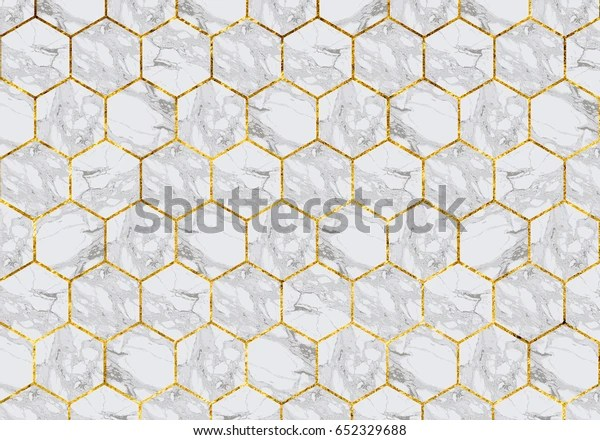 https www shutterstock com image photo marble tiles gold grout 652329688