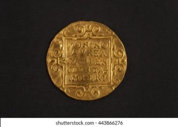 Medieval European Ducat Gold Coin Stock Photo Edit Now 443866276
